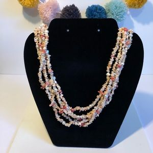 Jewelry - Coral and Pearl Layered Necklace